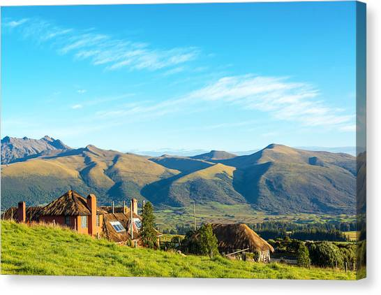 Cotopaxi Canvas Print - Colonial Building And Landscape by Jess Kraft