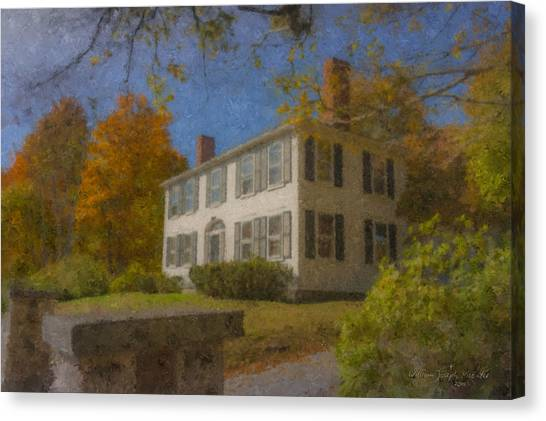 Colonial House On Main Street, Easton Canvas Print