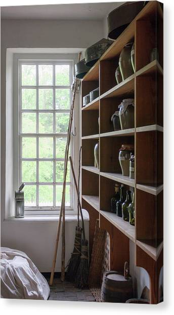 Royal Colony Canvas Print - Colonial Kitchen Pantry by Teresa Mucha