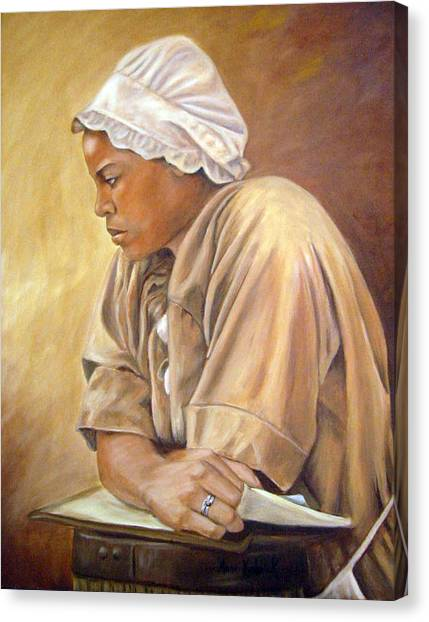 Canvas Print - Colonial Serving Girl by Anne Kushnick