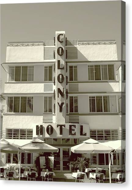 Colony Hotel South Beach Canvas Print