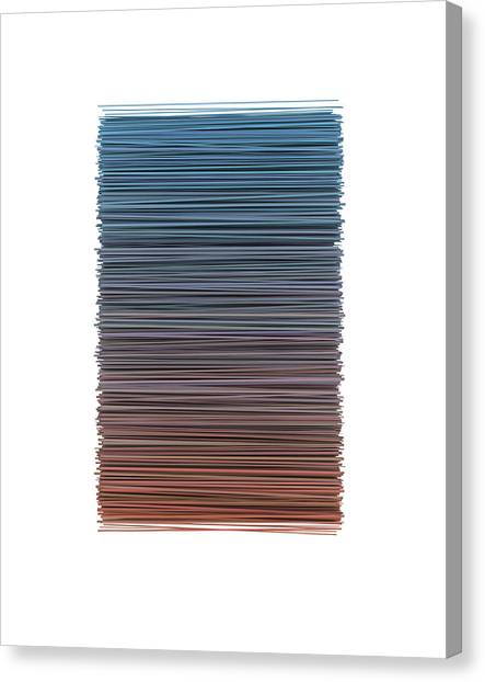 Block Canvas Print - Color And Lines 4 by Scott Norris