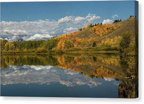 Color At Oxbow Bend Canvas Print