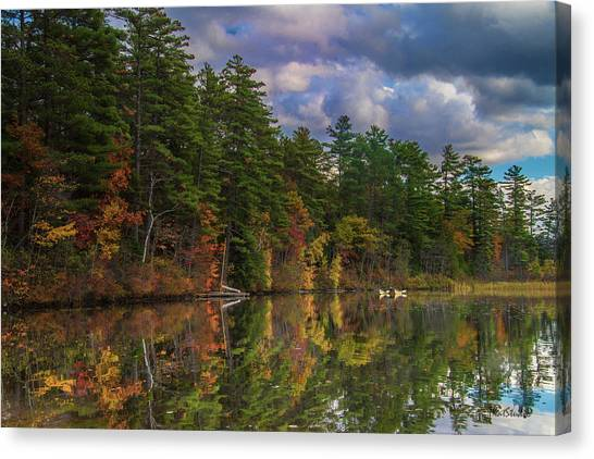 Color At Songo Pond Canvas Print