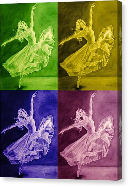 Color Dancer Canvas Print