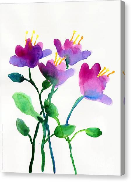 Color Flowers Canvas Print