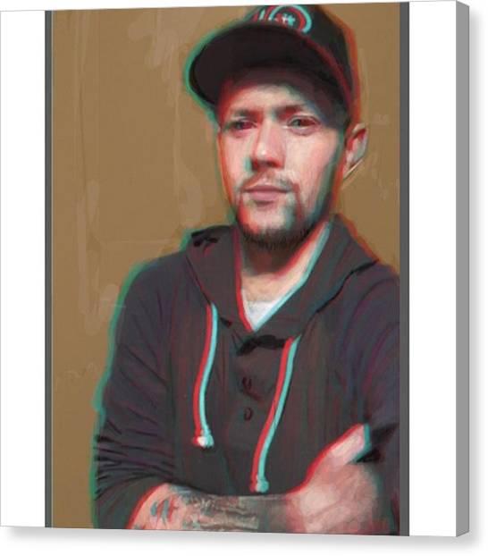 Realism Art Canvas Print - Color Glitch Finn. #frenchgirlsapp by James Garza
