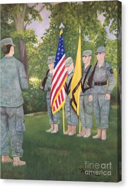 Rotc Canvas Print - Color Guard by Sheila Mashaw