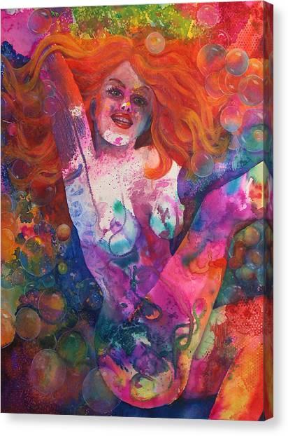 Color Me Mardi Gras Canvas Print by Valerie Aune