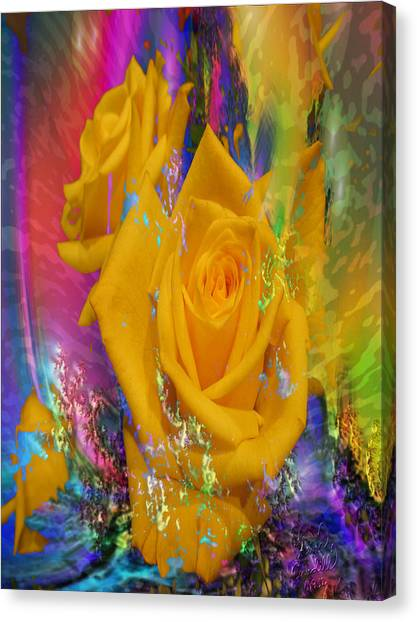 Color Me With Love Canvas Print