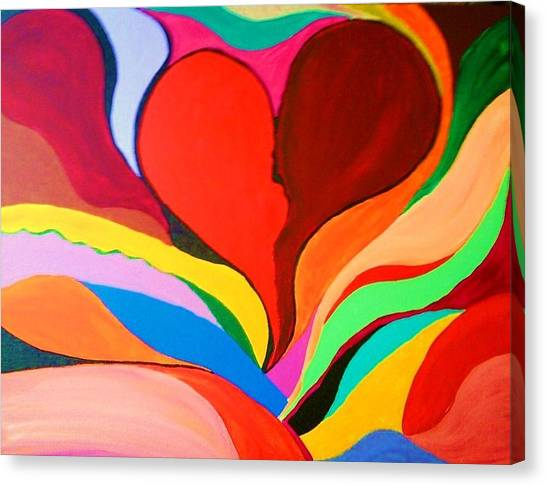 Color Mine With Love Canvas Print by Charles  Jennison