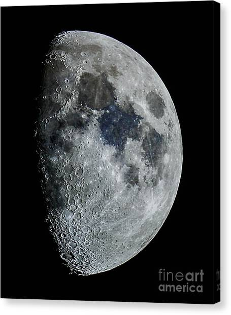 Color Moon Canvas Print
