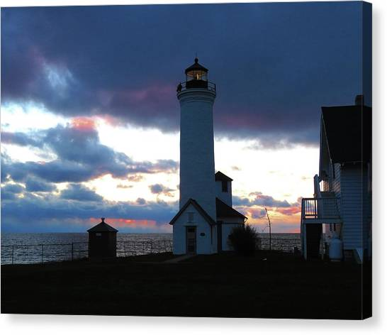 Color Of December, Tibbetts Point Lighthouse Canvas Print