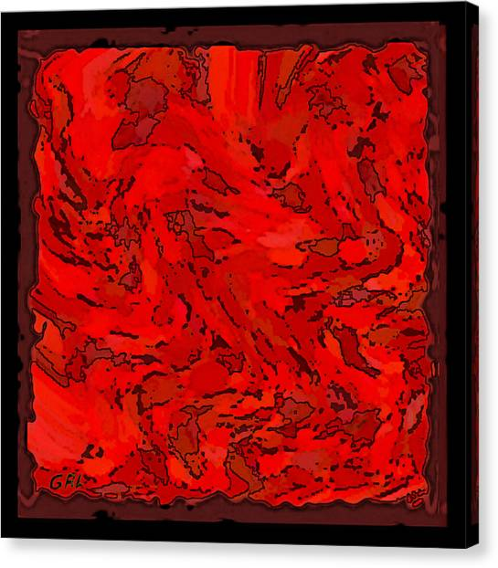Canvas Print featuring the painting Color Of Red Vi I Contemporary Digital Art by G Linsenmayer