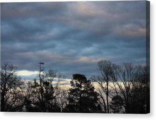 Color Of The Sky Canvas Print by Lee Anderson