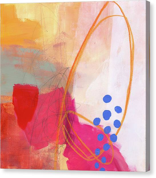 Abstract Art On Canvas Print - Color, Pattern, Line #2 by Jane Davies