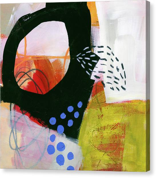 Abstract Art On Canvas Print - Color, Pattern, Line #3 by Jane Davies