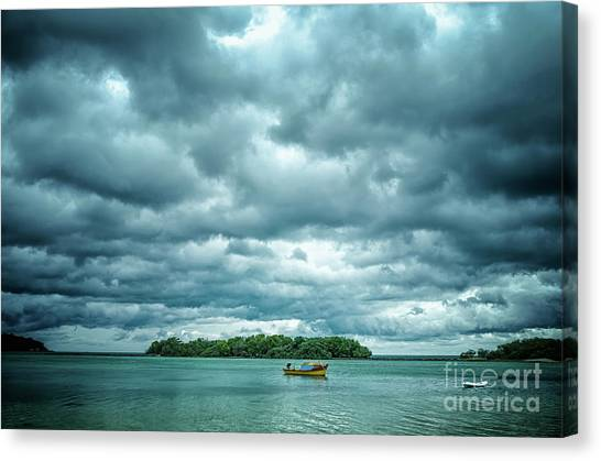 Colorplay Canvas Print - Color Play Before Storm by Michelle Meenawong