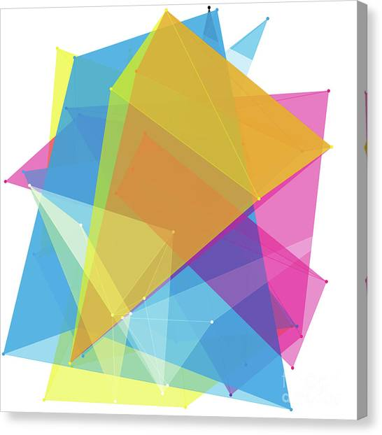 Vector Canvas Print - Color Polygon Pattern by Frank Ramspott