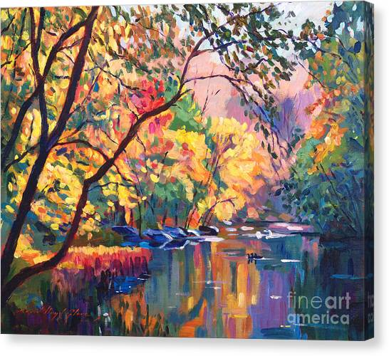 Recommended Canvas Print - Color Reflections Plein Aire by David Lloyd Glover