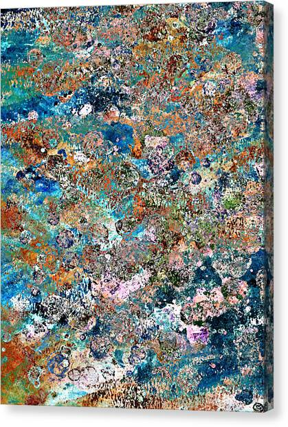 Color Splatter Canvas Print by Frank Tschakert
