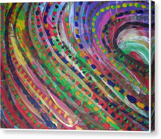 Color Storm Canvas Print by Russell Simmons