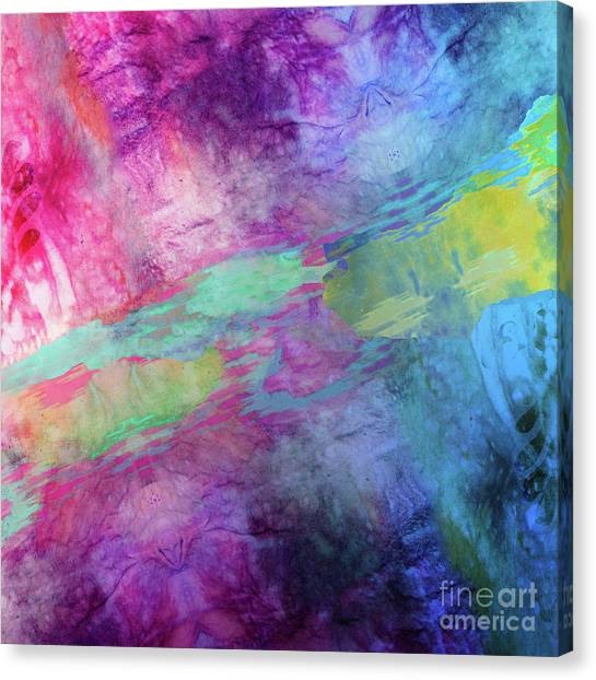 Tie-dye Canvas Print - Color Theory by Mindy Sommers