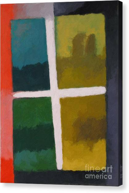Color Window Canvas Print by Lutz Baar