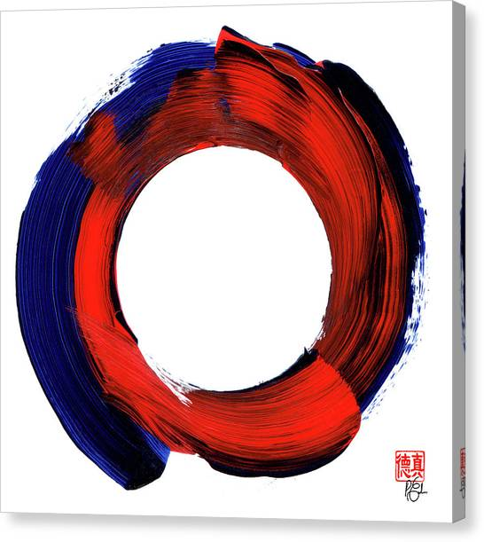 Color Zen Circle Canvas Print