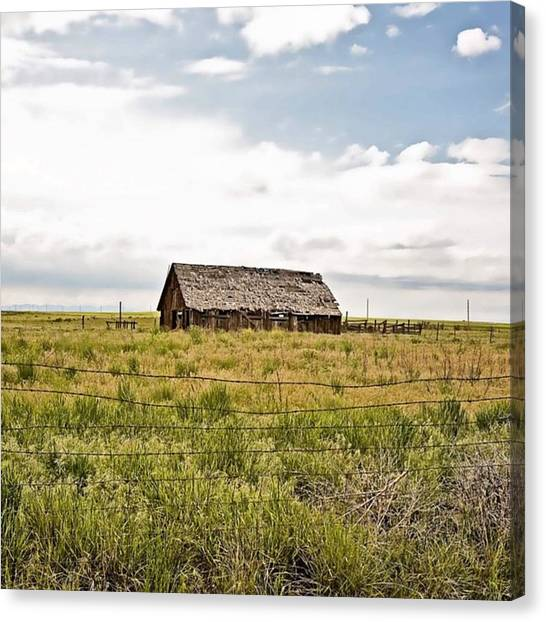 Barns Canvas Print - Colorado Barn #denver #colorado #barn by Scott Pellegrin