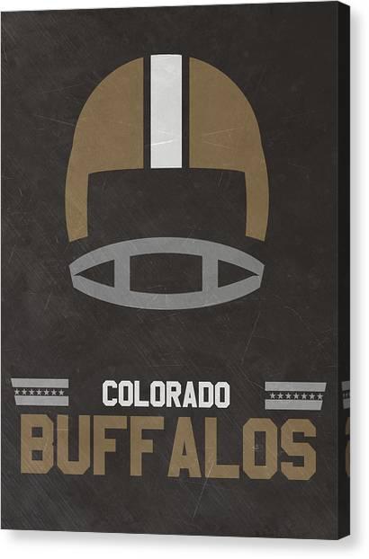 Colorado State University Canvas Print - Colorado Buffalos Vintage Football Art by Joe Hamilton