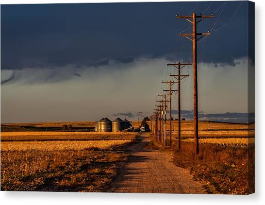 Prairie Sunsets Canvas Print - Colorado Farm Sunset by Mountain Dreams