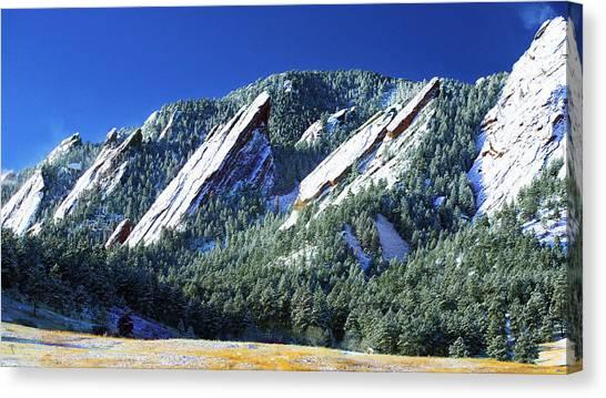 All Five Colorado Flatirons Canvas Print