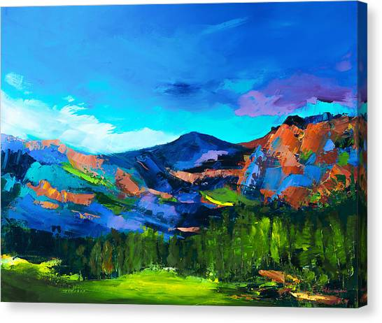 Fauvism Canvas Print - Colorado Hills by Elise Palmigiani