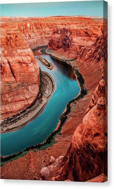 Colorado River Canvas Print - Colorado River Bend by Az Jackson