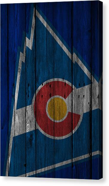 Colorado Rockies Canvas Print - Colorado Rockies Wood Fence by Joe Hamilton