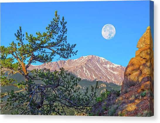 Colorado Rocky Mountain High, Just A Breath Away From Heaven Canvas Print