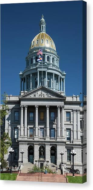 Capitol Building Canvas Print - Colorado State Capitol by Steve Gadomski