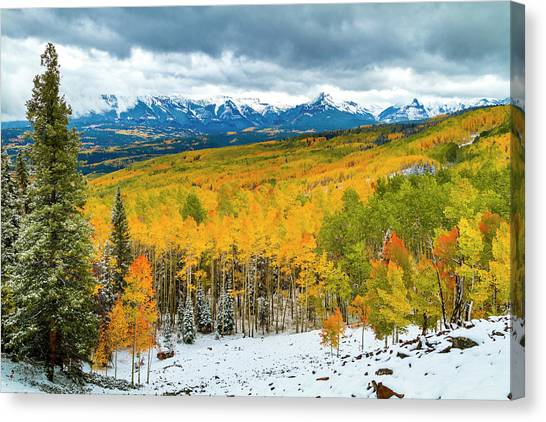Colorado Valley Of Autumn Color Canvas Print