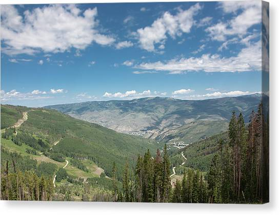 Colorado Vista From Trail To Beaver Lake Canvas Print