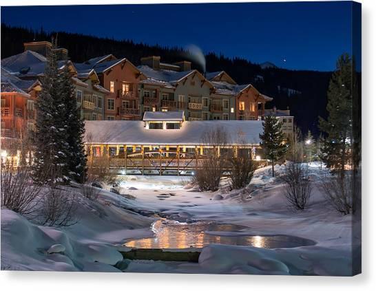 Colorado Winter Evening Canvas Print