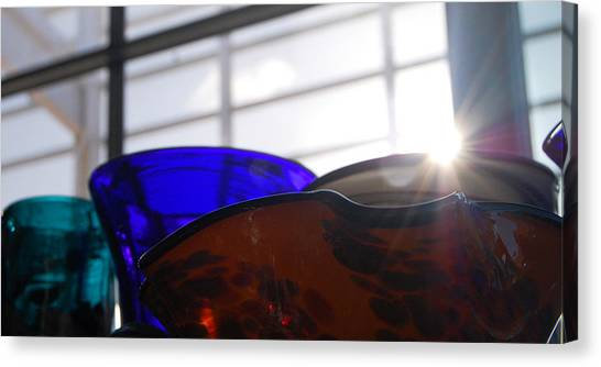 Colored Glass Horizon Canvas Print by Jean Booth