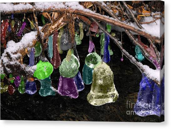 Colored Ice Bells Canvas Print