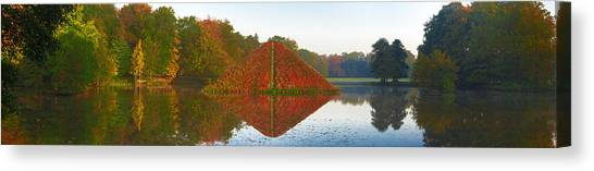 Colored Lake Pyramid Canvas Print