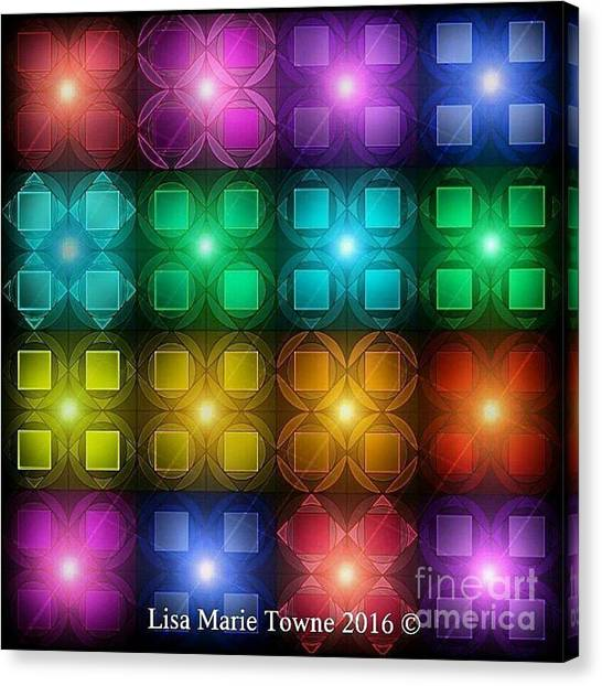 Canvas Print - Colored Lights by Lisa Marie Towne