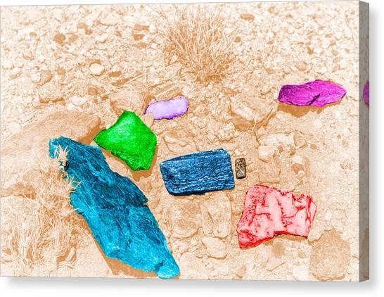 Colored Rocks 1 Canvas Print