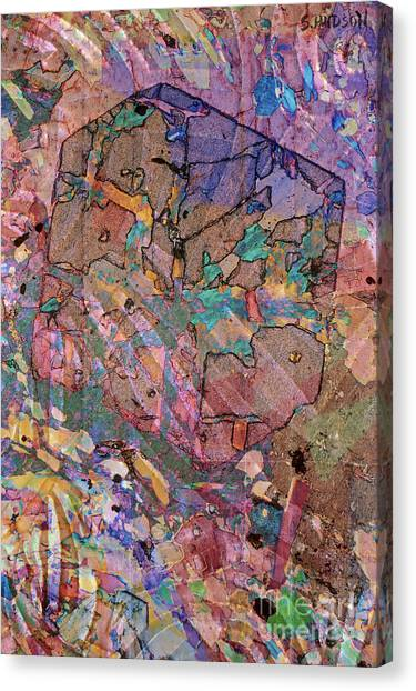 colorful abstract art - Flying Cube Canvas Print