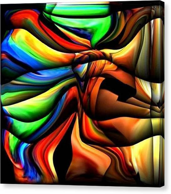 Colorful Abstract1 Canvas Print by Teo Alfonso