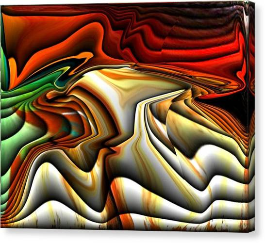 Colorful Abstract33 Canvas Print by Teo Alfonso