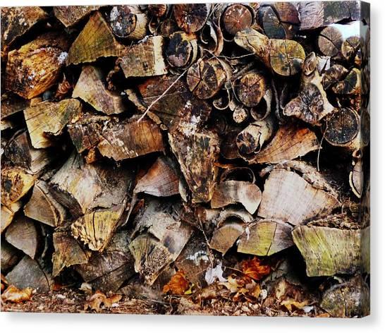 Colorful Autumn Logs Canvas Print